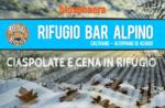 Wandern und Schneeschuhwandern in der Natur mit Mittag- oder Abendessen an der Alpine Hütte Bar