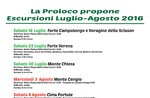 Escursioni Luglio-Agosto 2016 con la ProLoco di Roana, Altopiano di Asiago