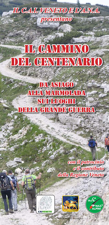 The Walk of the centenary, the great war, from Asiago to Marmolada