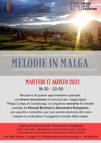 Melodie in malga escursione ad Asiago