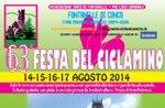 63ª Festa del Ciclamino a Fontanelle di Conco, dal 14 al 17 agosto 2014