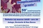 Abend für den 50. Jahrestag Abschnitt Avis Altopiano dei Sette Comuni-24 März 2018