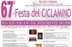 67 ^ fest der Cyclamen in Fontanelle 15. August 2018 vom 11. bis Conco -