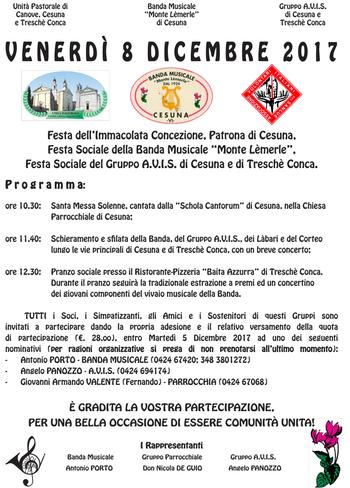 Festa dell 39 immacolata concezione a cesuna e tresch conca for Baita asiago capodanno