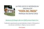 Festa del paese al Baito Erio, Mezzaselva, Altopiano di Asiago 28 giugno 2015