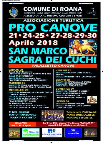Sagra di San Marco e dei Cuchi 2018 a Canove di Roana