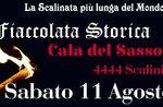 Torchlight historische Schlacht von Asiago mit Feuerwerk-Sasso di Asiago, 11. August 2018