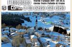 """""""Das Plateau nur einen Schritt vom Himmel""""-Projektion von Fabio Ambrosini Bres in Cesuna-4 Januar 2019"""