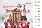 Den Ablauf der Weihnachtsmänner-Walk/Run für wohltätige Zwecke in Asiago-16. Dezember 2018