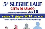 5. SLEGHE LAUF Stadt Asiago - Rennen Podistica, 7. Juni 2014