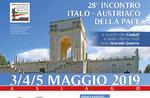 28° Incontro Italo-Austriaco della Pace ad Asiago - Dal 3 al 5 maggio 2019