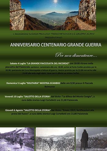 Great war Centenary anniversary Treschè Conca, Asiago plateau