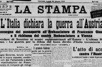 prima pagina de la stampa 1915 sullinizio della grande guerra