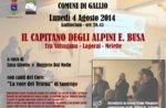 Serata in onore del capitano degli alpini Enrico Busa di Salcedo