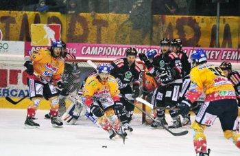 Supercoppa Hockey ghiaccio Asiago vs Rittner Buam