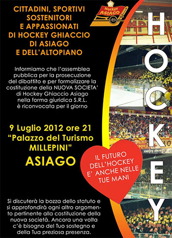 Assemblea Hockey Asiago 2012