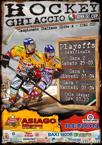 Campionato Hockey 2013-14 Elite.A Playoffs semifinali Asiago