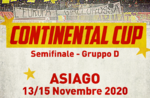 Semifinale continental cup iihf asiago 2020