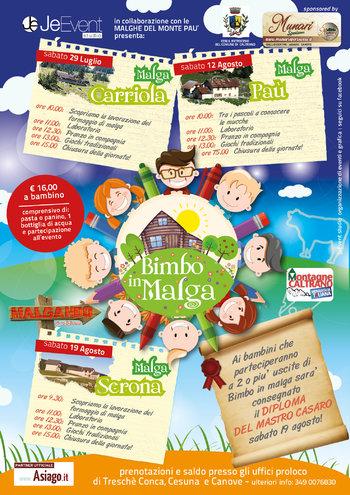 BIMBO IN MALGA 2017 - Giornate di animazione per bambini sull'Altopiano di Asiago