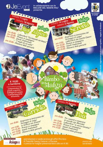 BIMBO IN MALGA 2018 - Giornate di animazione per bambini sull'Altopiano di Asiago