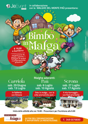 BIMBO IN MALGA 2019 - Days of children's entertainment in the Malaga on the Asiago Plateau
