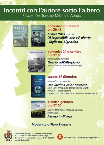 Meetings with the author under the tree, library reached the point of Asiago