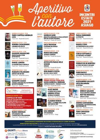 APERITIVO CON L'AUTORE - Rassegna letteraria ad Asiago - Luglio/Agosto 2021