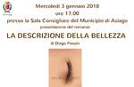"""Presentazione del libro """"LA DESCRIZIONE DELLA BELLEZZA"""" di Diego Ponzin - 3 gennaio 2018"""
