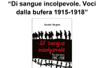 """Präsentation des Buches """"unschuldiges Blut. Einträge vom 31. August 2018 Sturm Asiago-1915-18"""""""