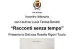 "Presentation of the book ""Timeless Tales"" with author Lucia Teresa Benetti in Asiago - 2 August 2019"