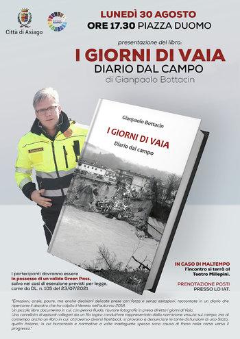 Presentazione libro I giorni di Vaia di Gianpaolo Bottacin ad Asiago