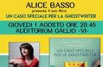 """Presentazione del libro """"Un caso speciale per la ghostwriter"""" a Gallio - 1 agosto 2019"""