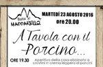 A Tavola con il Porcino in Asiago, Dienstag, 23. August 2016