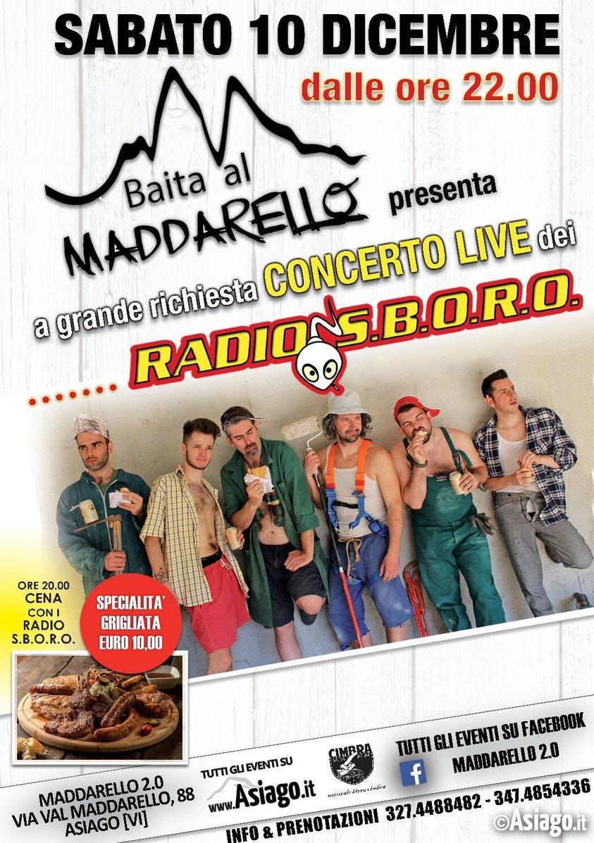 Cena e concerto live dei radio s b o r o ad asiago for B b ad asiago