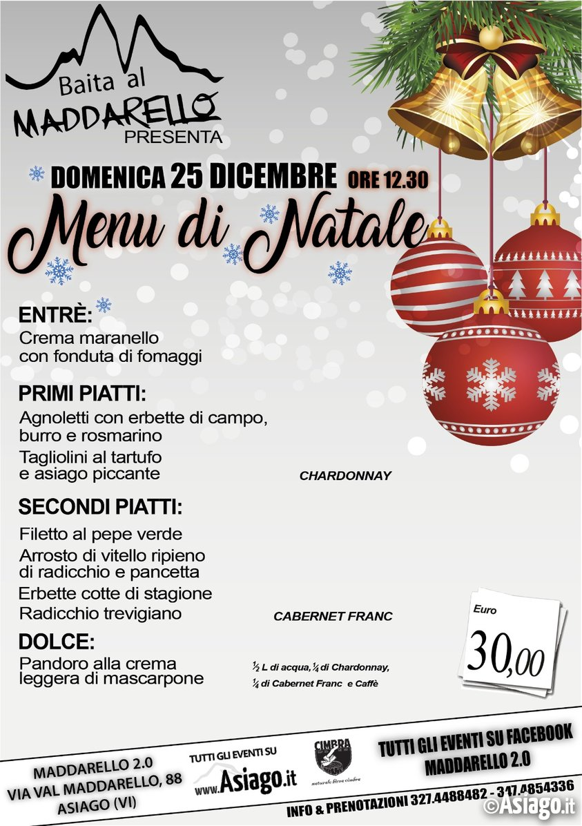 Natale ad asiago for B b ad asiago
