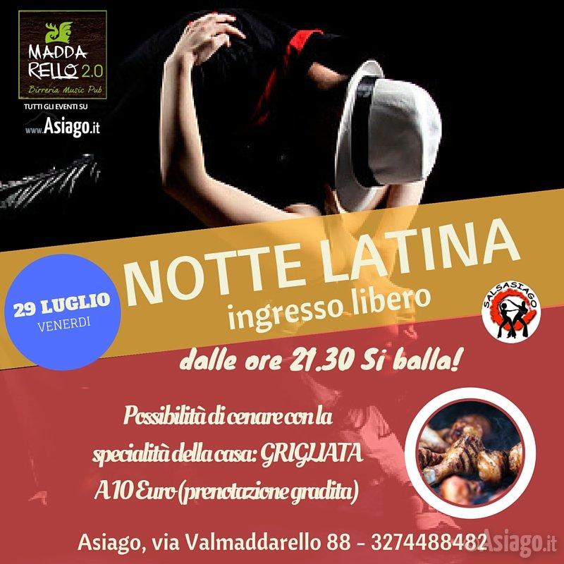 Notte latina ad asiago venerdi 29 luglio 2016 for Baite ad asiago