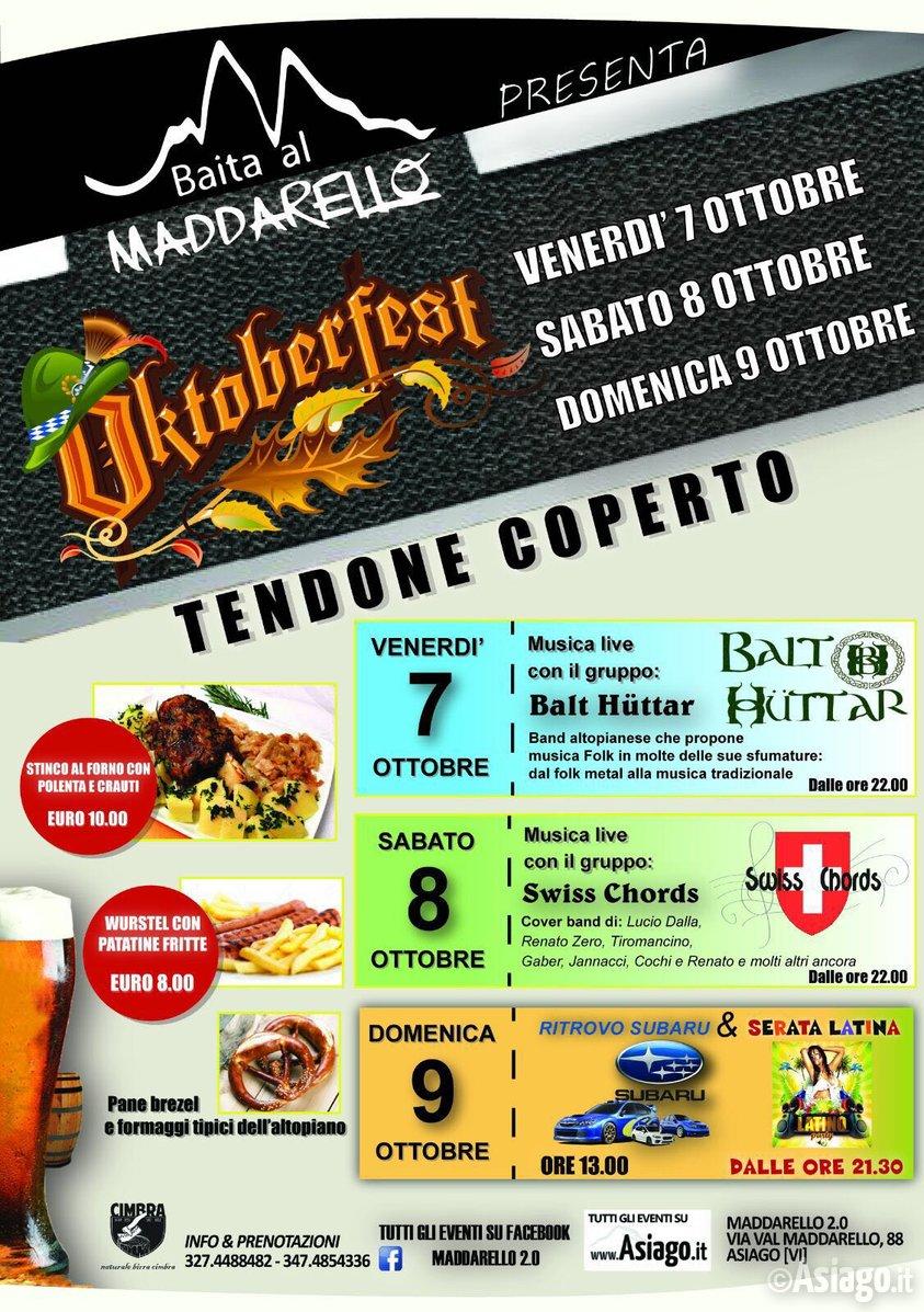Oktoberfest ad asiago da venerdi 7 ottobre a domenica 9 for Baite ad asiago