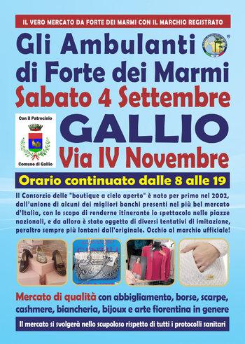 Gli Ambulanti di Forte dei Marmi a Gallio 4 settembre 2021
