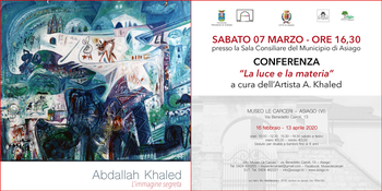 conferenza con khaled ad asiago 7 marzo 2020