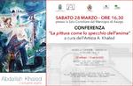 """""""Malerei als Spiegel der Seele"""" - Konferenz des Künstlers A. Khaled in Asiago - 28. März 2020"""