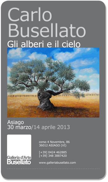 Mostra d 39 arte gli alberi e il cielo di carlo busellato ad for Baite ad asiago