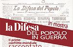 """Mostra """"la Difesa del popolo in guerra"""" a Gallio, Altopiano di Asiago 1-9 agosto"""