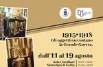 """Mostra """"1915-1918 Gli oggetti raccontano la Grande Guerra"""" a Gallio - 11-19 agosto 2018"""