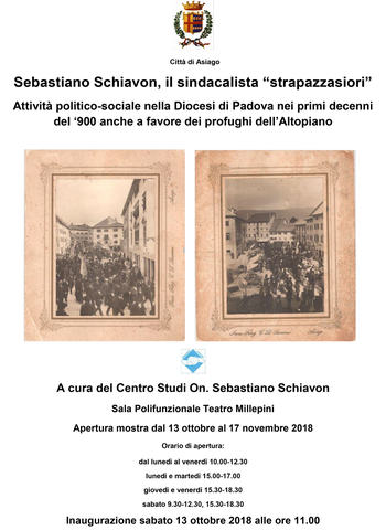 Mostra On Schiavon ad Asiago