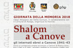 "Zeigen ""SHALOM in CANOVE"" 27 Januar bis zum 11. Februar in Asiago-2018"