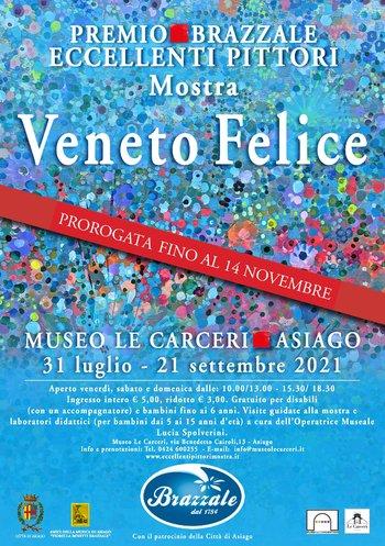 """Mostra Eccellenti Pittori """"Veneto Felice"""" - Museo Le Carceri di Asiago, dal 31 luglio al 14 novembre 2021"""