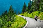 Ankunft von der Motorrad-Rallye CENTOPASSI im Gallium-Juni 3, 2017