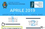 """Aperture e attività del mese di APRILE 2019 del Museo Naturalistico Didattico """"Patrizio Rigoni"""" di Asiago"""