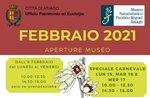 """Aperture e attività di febbraio 2021 del Museo Naturalistico Didattico """"Patrizio Rigoni"""" di Asiago"""