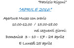 """Natur-Museum-Eröffnung """"Patrizio Rigoni,"""" Asiago, von 3 bis 25. April 2016"""